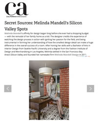 California Home + Design Covers Melinda Mandell Interior Design