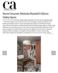 California Home + Design Covers Melinda Mandell Interior Design