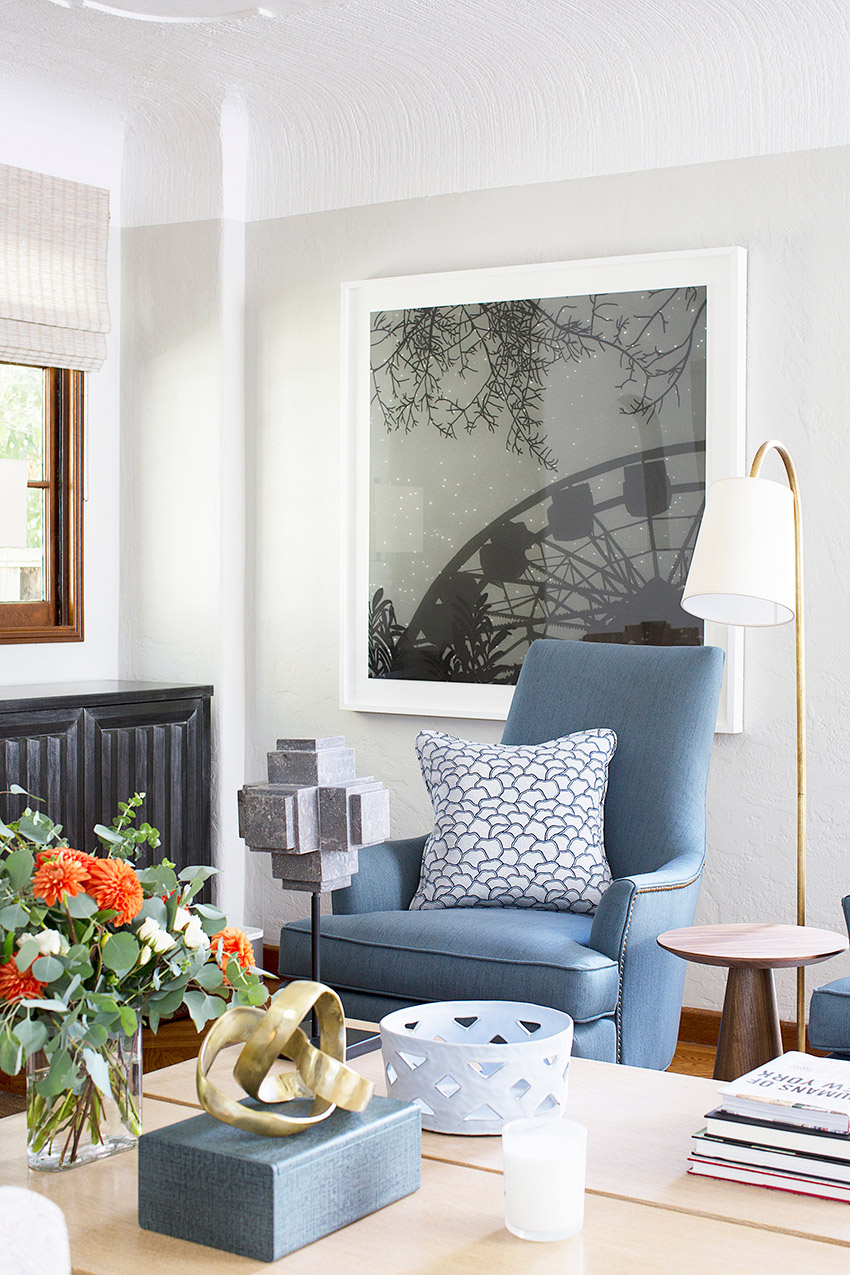 Melinda Mandell Interior Design Palo Alto Living Room, Photography by Michelle Drewes