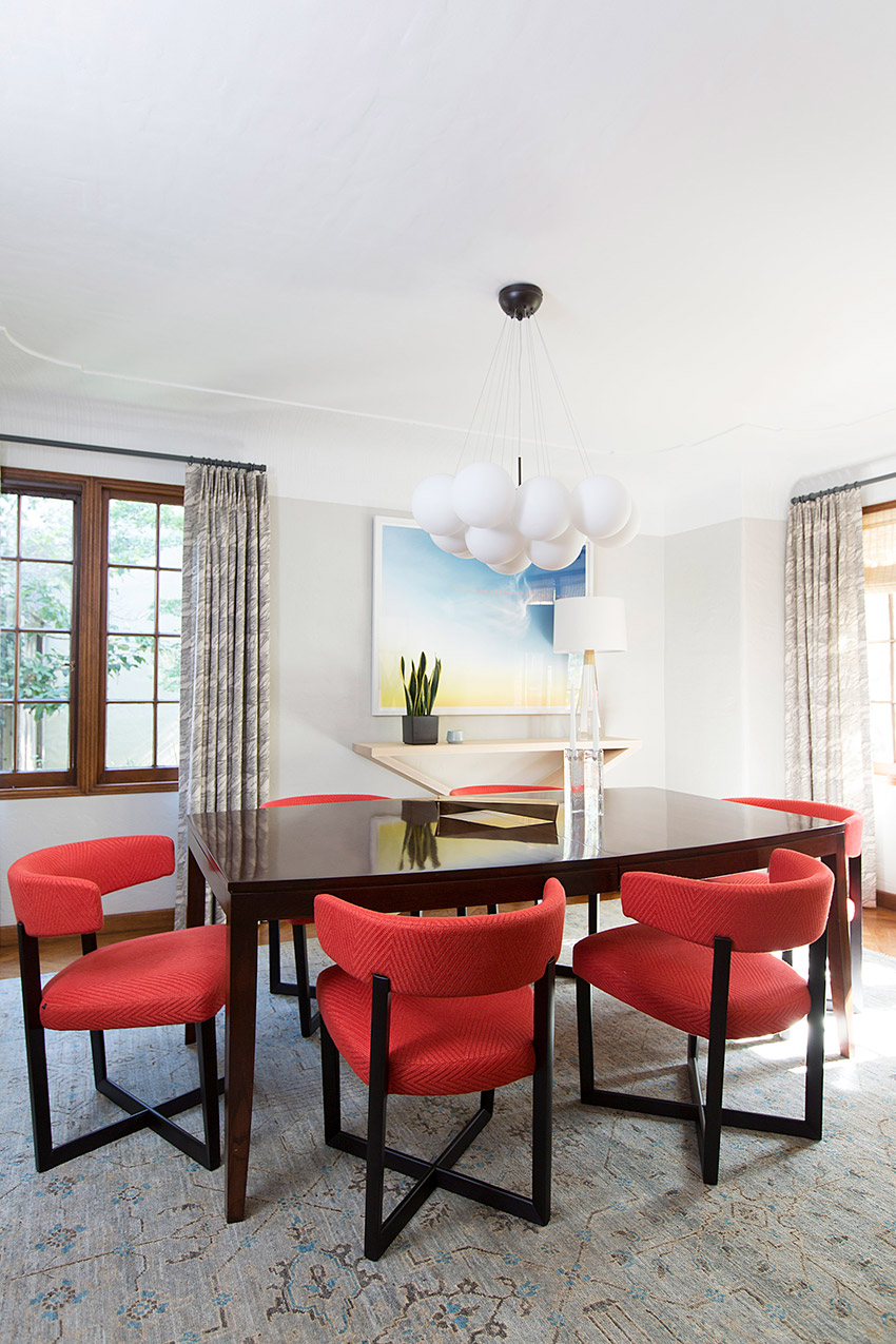 Melinda Mandell Interior Design Palo Alto Dining Room, Photography by Michelle Drewes