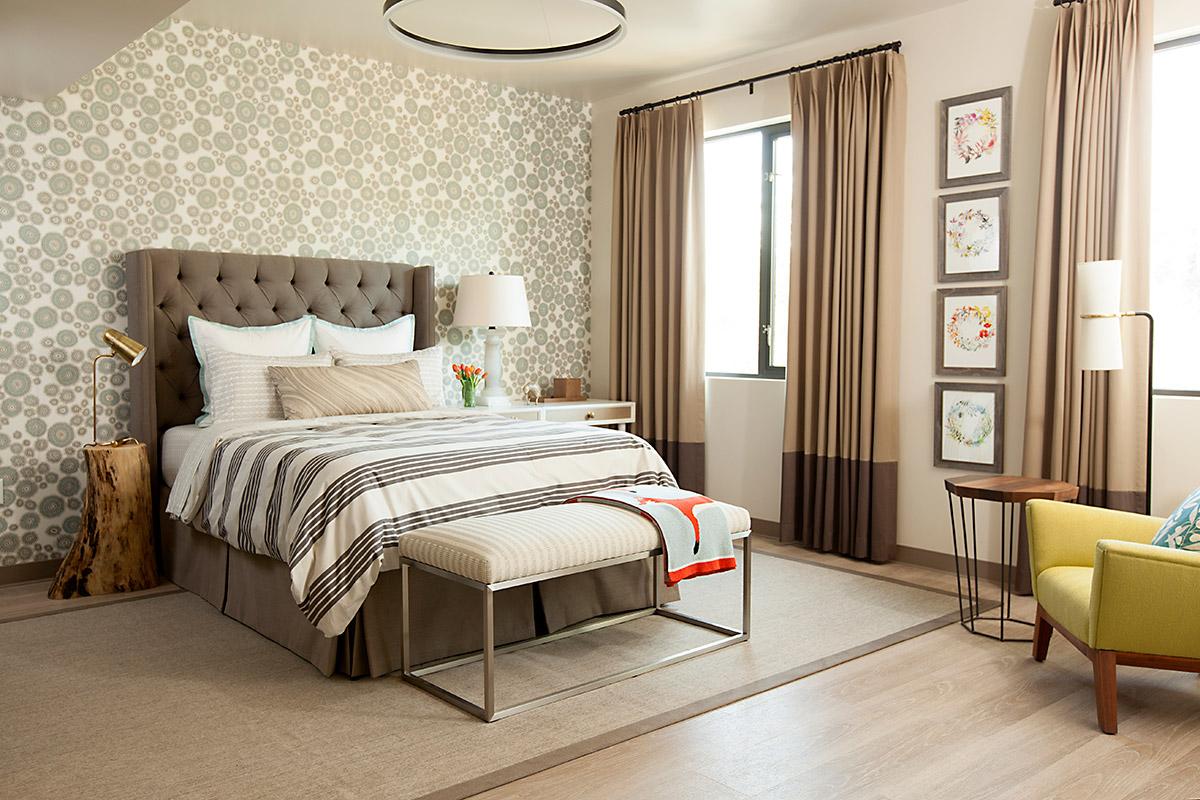 Melinda Mandell Interior Design Palo Alto Bedroom, Photography by Michelle Drewes