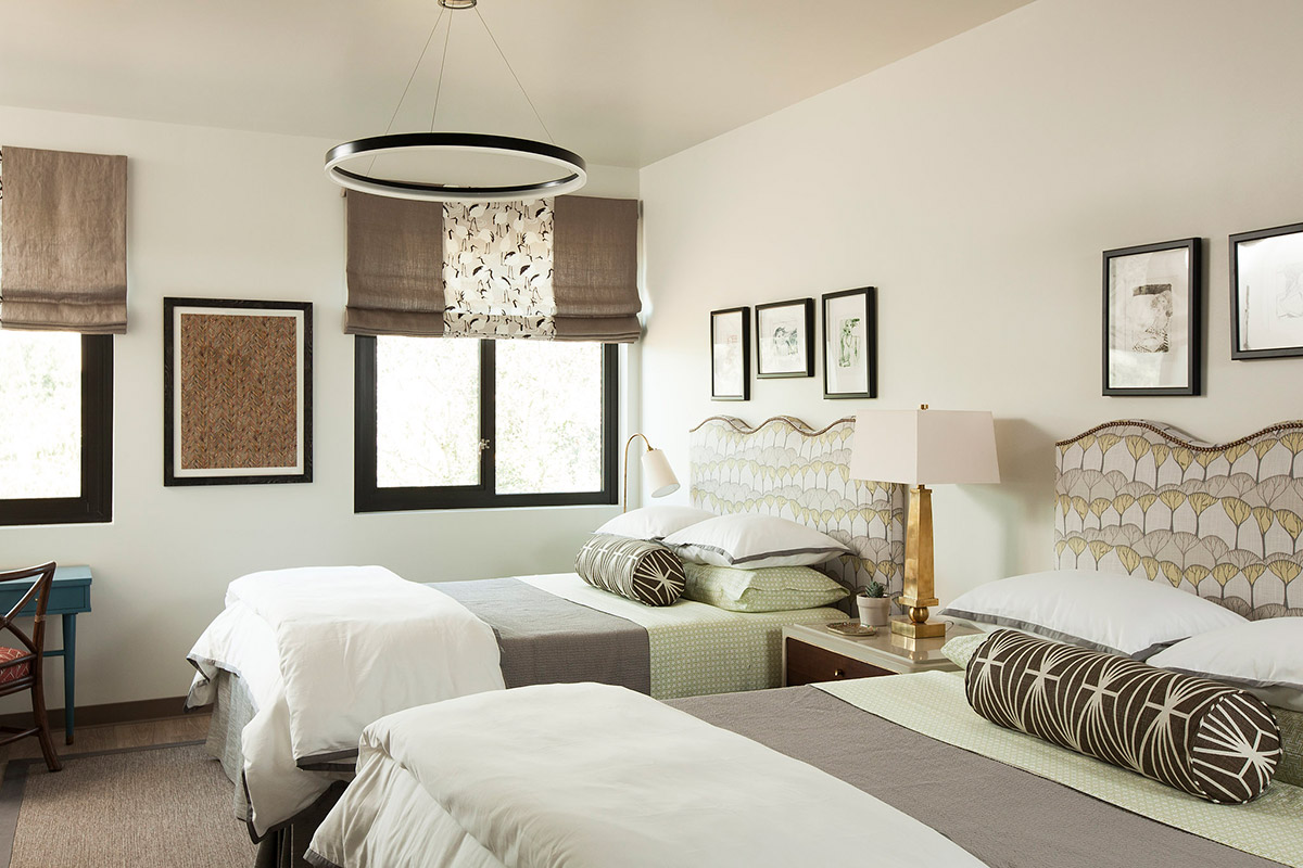 Melinda Mandell Interior Design Palo Alto Bedroom, Photography by Michelle Drewes