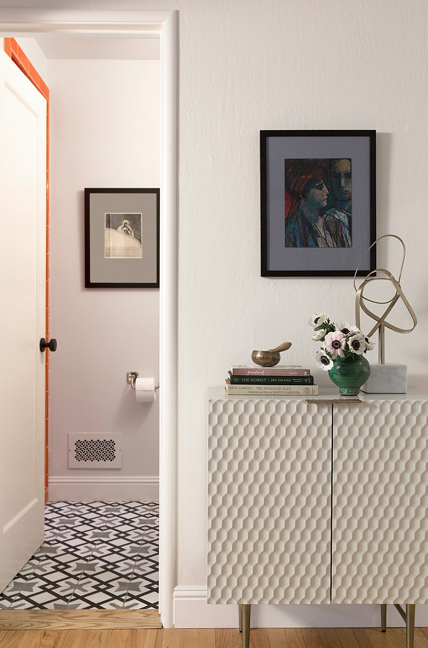 Melinda Mandell Interior Design Palo Alto Hallway, Photography by Michelle Drewes