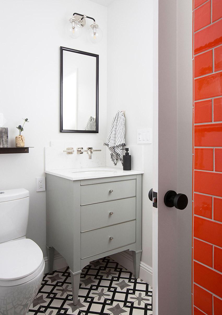 Melinda Mandell Interior Design Palo Alto Bathroom, Photography by Michelle Drewes