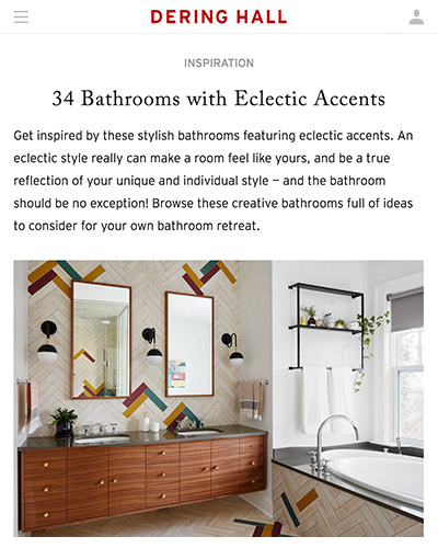 Dehring Hall | 34 Bathrooms with Eclectic Accents