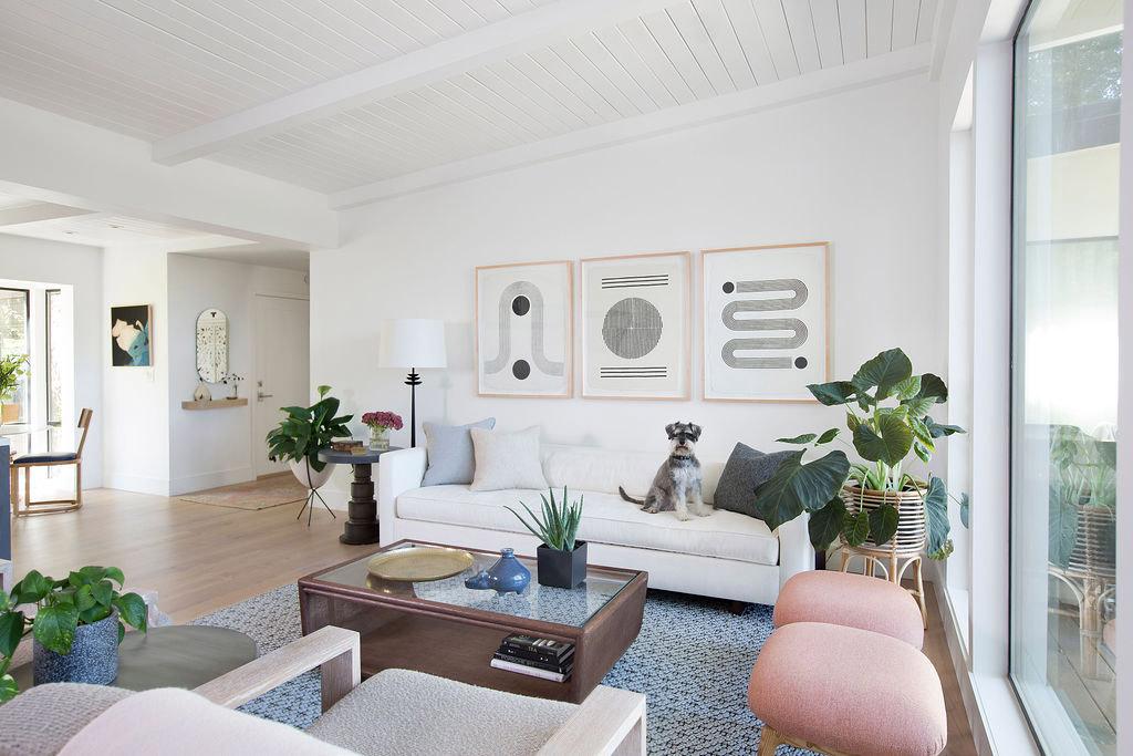 Melinda Mandell Interior Design Menlo Park Living Room, Photography by Michelle Drewes