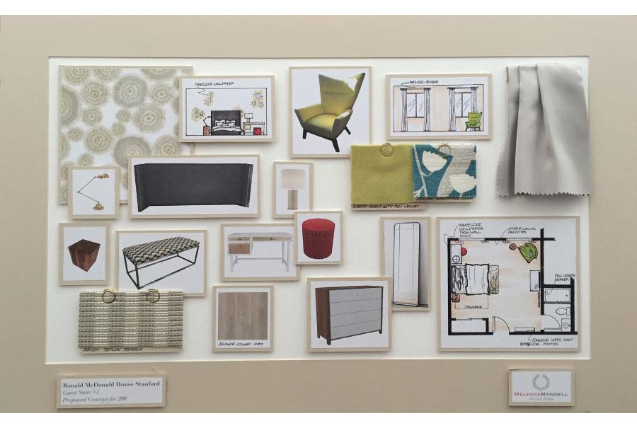 Melinda Mandell Interior Design Palo Alto Mood Board